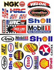 2SH. MOBIL 1 SHELL VELOIL ESSO HRC NGK AUTO LUBE STICKER DIE-CUT MOTOR RACING