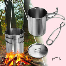 750ml Portable Outdoor Camping Water Cup Water Mug Picnic Food Pot With Foldable