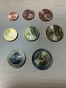 ESTONIA  2018 UNC EURO Coin Set. 1 cent to 2 EUR. New from mint rolls. KM 61-68