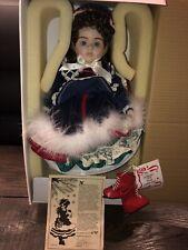 New Gorham Natalie Holiday Musical Skater Doll Susan Stone Aiken Limited Ed. Coa