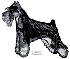 Iron-On Mini Schnauzer Patch embroidered applique Giant Standard Dog black/white