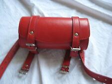 Vespa Motorroller Lenkertasche rot echt Leder Tasche Werkzeugtasche Case NEU