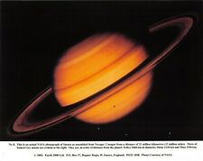 NASA Photographic Card Print of Saturn taken by Voyager 2 by Earth 2000 Ltd 2001