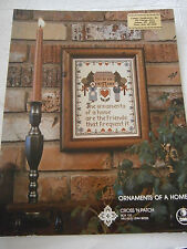 Vintage Ornaments Of A Home Cross Stitch Pattern Book Sampler Friends Heart NEW
