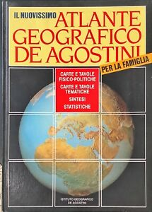 IL NUOVISSIMO ATLANTE GEOGRAFICO DE AGOSTINI PER LA FAMIGLIA - DE AGOSTINI 1986
