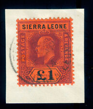 MOMEN: SIERRA LEONE SG #111 1911 USED LOT #60039