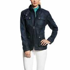 ARIAT Women's Syndey Waxed Cotton Jacket, Navy, Large