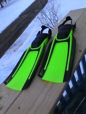 Us Diver Blades Scuba Fins Men's Large Green / Black Snorkeling Skin Diving