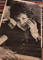BOB DYLAN Poster, Vintage 1960s Rock Photo.  Original, Very Rare!  LARGE:38x25""