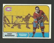 Bobby Rousseau #65 Montreal Canadiens 1968-69 Topps Hockey Card High Grade NM/M