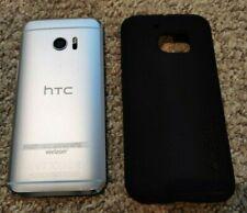 HTC 10 32GB 6545LVW Glacier Silver (Verizon) + GSM Unlocked Smartphone W/Extras