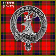 Fraser Lovat Scottish Clan Badge, Pewter