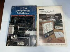 2 DEC PDP-11 HANDBOOKS PERIPHERALS & LAB WORKBOOK