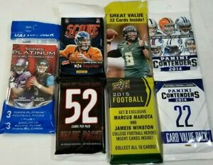 Unopened Wax Pack 2014-2015 NFL CARDS Panini Contender UPPER DECK Topps Platinum