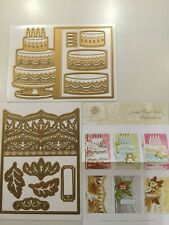 Anna Griffin Cake Damask Jacket Card Dies 643438 SOLD OUT NEW