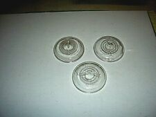 Lot of 3 Vintage Clear Glass Lids for Wire Bail Canning Jars, Regular Size