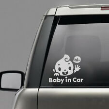 "Chic ""Baby In Car"" Waving Baby on Board Cute Safety Sign Car Decal PET Sticker"