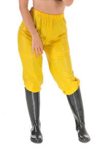 Pvjc Jogging Sweats Sauna Rain Pants Rubber Pants Yellow Matte