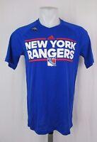 New York Rangers NHL Men's adidas Climalite Ultimate Blue Tee