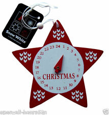 Christmas Countdown Clock Star Wood Advent Calendar Xmas Tree Wooden Decoration