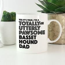 More details for basset hound dad mug: funny gift for basset hound dog owners & lovers gifts!