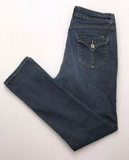 D306 Angels Jeans Mid Rise Slim Straight Super Stretch sz 10 Ankle (Mea 30x30)