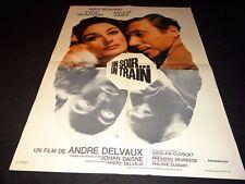 UN SOIR UN TRAIN  yves montand anouk aimee  affiche  cinema  1968