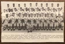 St. Louis Cardinals 1962 Baseball Team Photo Program Photo A2232