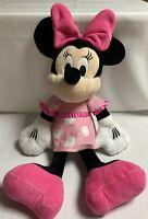 "Minnie Mouse Baby Pink Polka Dot  20"" The Disney Store Plush Stuffed Animal"