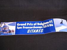 Sticker Grand Prix of Belgium F1 Spa-Francorchamps 25/5/1986 Gitanes (PBE)