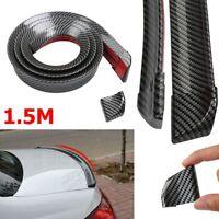 Trim Luxury Boot Roof  Lip Spoiler  Car Rear Wing Tail Trunk 3D Carbon Fiber