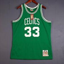 100% Authentic Larry Bird Mitchell Ness Celtic NBA Jersey Mens Size 48 XL