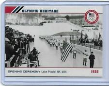 2014 TOPPS OLYMPIC OPENING CEREMONY / HERITAGE CARD OH-3 ~ 1932 LAKE PLACID NY