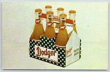 Dubuque or Fort Dodge Iowa~Dodger Soda Pop Six Pack~1960 Advertising Postcard
