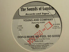 "YOUNG AND COMPANY OOH-U-MAKE ME FEEL SO GOOD 12"" ORIG PROMO SYNTH FUNK VG+"