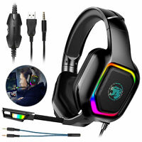 Stereo Surround Sound Gaming Headset Over-Ear Headphone for Xbox one PS5 Laptop