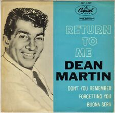 "DEAN MARTIN ""RETURN TO ME"" 50'S EP CAPITOL EAP 1-939"