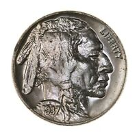 Raw 1937-D Buffalo 5C Uncertified Ungraded US Mint Denver Nickel Coin