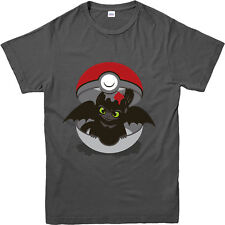 How to train your dragon T-Shirt, Pokemon Toothless Spoof Top