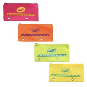 Crayola Brand Pencil Cases Zipper Pouch Lot Of 4