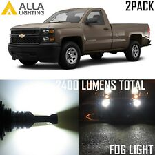 Alla Lighting Fog Light Bulb 2400lm 5202 White for Chevy Silverado 1500 2500 HD