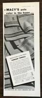 1936 R. H. Macy's & Co. Print Ad Spirited Colors in Our Finest Turkish Towels