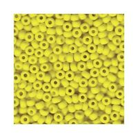 Miyuki Seed Beads 6/0 Opaque Yellow 6-404 Glass 20g in a Tube Round Rocaille