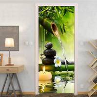 3D Green Bamboo Landscape Living Room Door Murals Wall Sticker Decal Home Decor