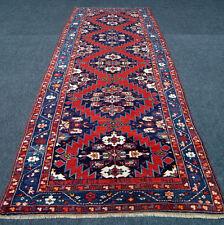 Antiker Orient Teppich 385 x 145 cm Kazak Kasak Alt Kaukasus Antique Old Carpet