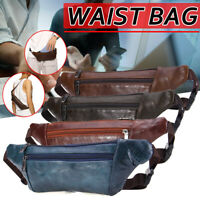 Bum Bag Fanny Pack Pouch Travel Waist Belt Soft Leather Holiday Money Wallet