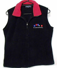 Polar Fleece lawn bowls novelty Vest Rather Be Bowling  Black & Red trim