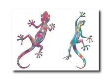 Rainbow Geckos Temporary Tattoos Sheet - Great Kids Party Bag Fillers / Favours