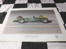 JIM CLARK INDIANAPOLIS 500 1965 LOTUS 38 DUGAN PRINT STUNNING COLIN CHAPMAN CAR