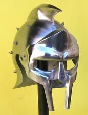 ROMAN GLADIATOR Maximus Decimus Meridius Mens STEEL HELMET ARMOR with LINER New